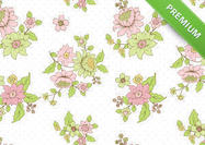Polka-dot-floral-background-psd