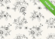 Hand-drawn-black-and-white-floral-wallpaper