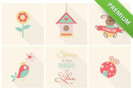 Cute-spring-icons-psd-pack