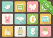 Easter-icon-psd-pack