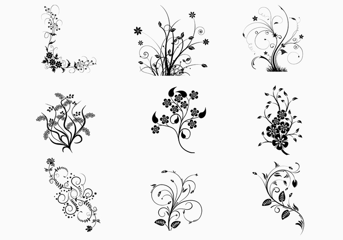 Floral Photoshop Brushes