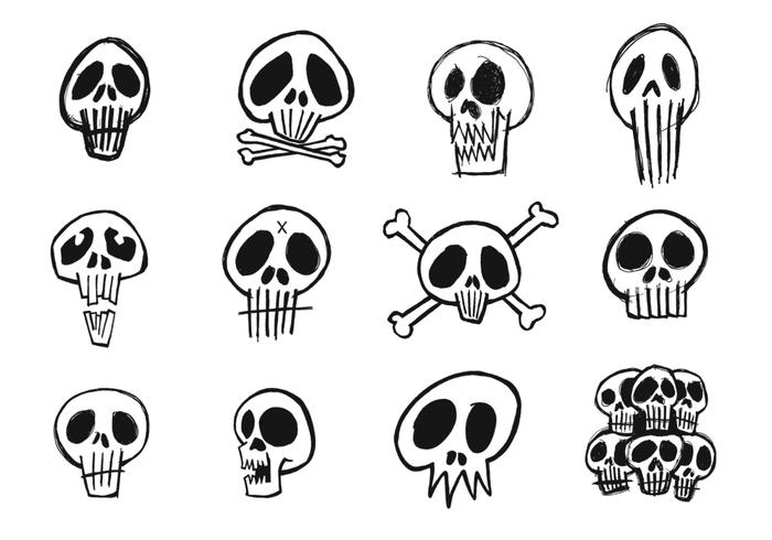 Sketchy Skull Brush Pack