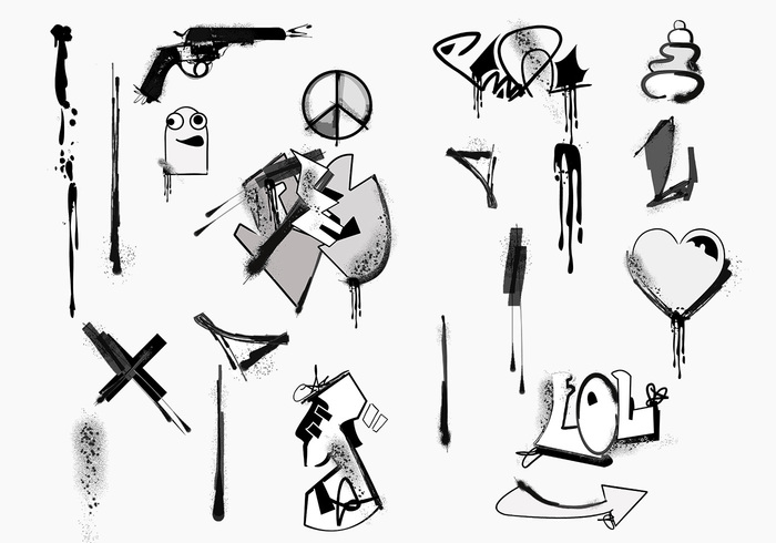Graffiti Brush Elements