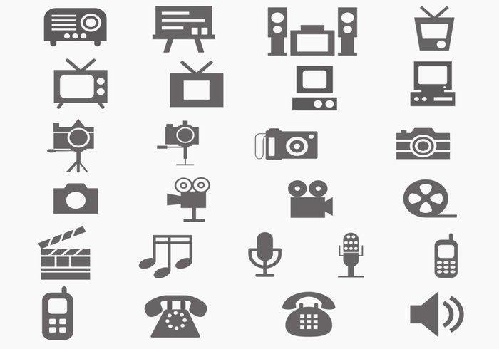 Multi Media Brush Icon Pack