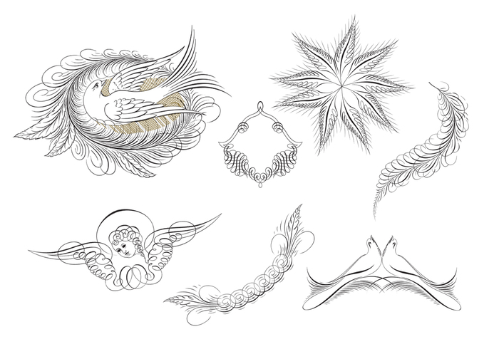 Calligraphic Ornament Brush Pack