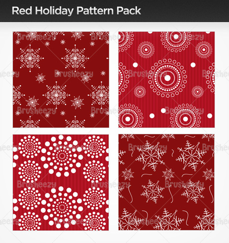 Red Holiday Photoshop Patterns
