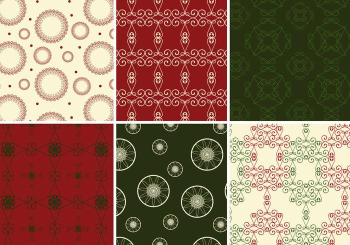 Ricos patrones de Navidad de Photoshop