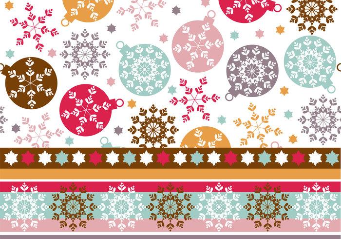 Snowflake Ornament Wallpaper & Photoshop Pattern