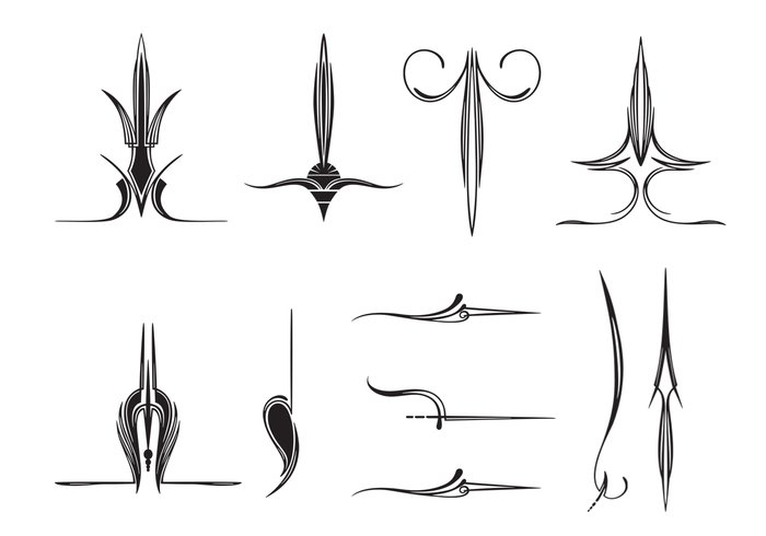 11 cepillos abstractos del ornamento