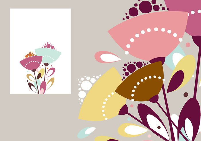 Abstract Floral Photoshop Wallpaper & Brush Pack