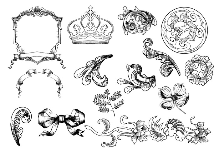 Etched Ornament Brushes