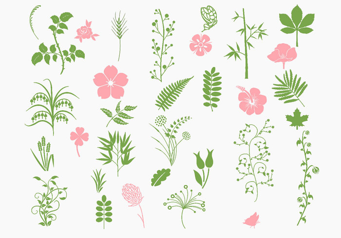 Pink and Green Organic Brush Pack