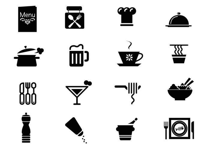 Iconos del restaurante Paquete Brush