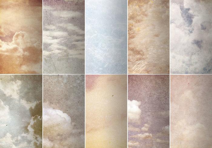 Grungy wolk texturen