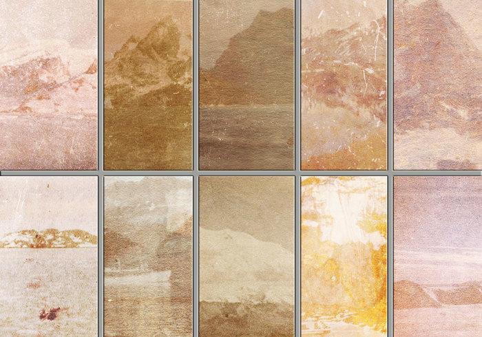Textures de montagne grungy
