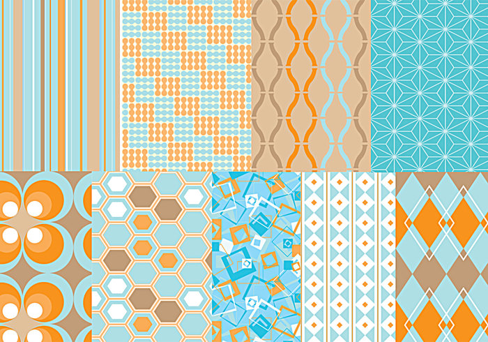 Funky Retro Photoshop Pattern Pack