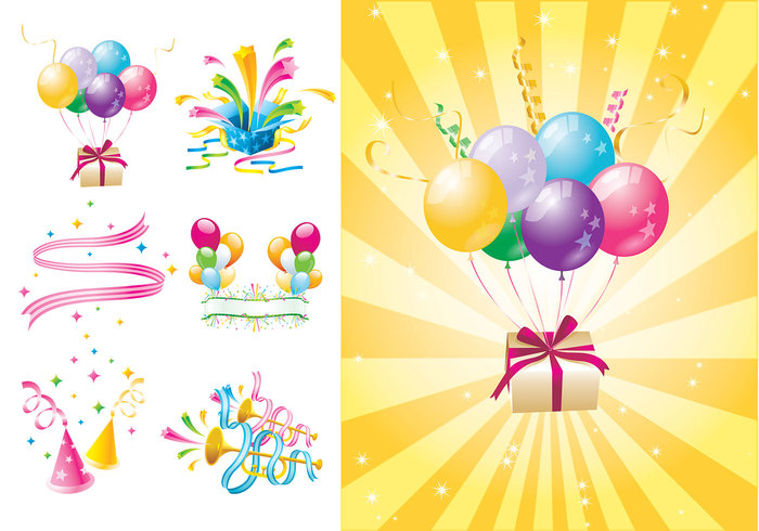 Party Time Brush and Wallpaper Pack Two