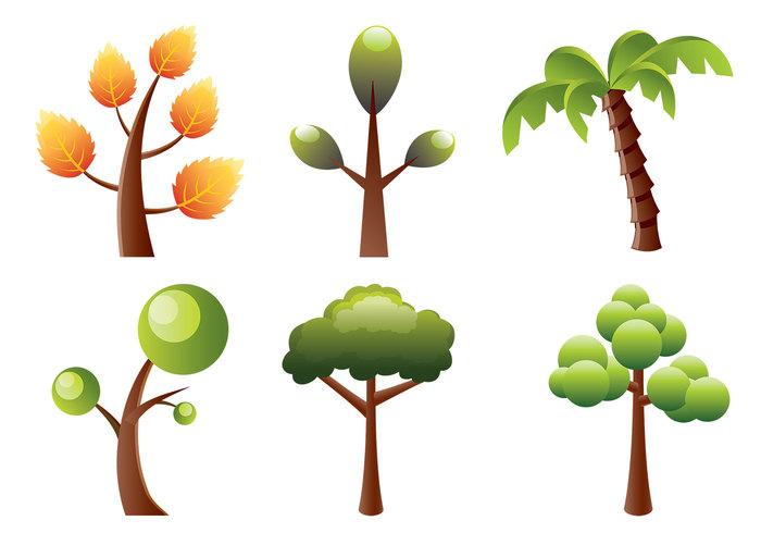 Stylized Trees Brush Pack