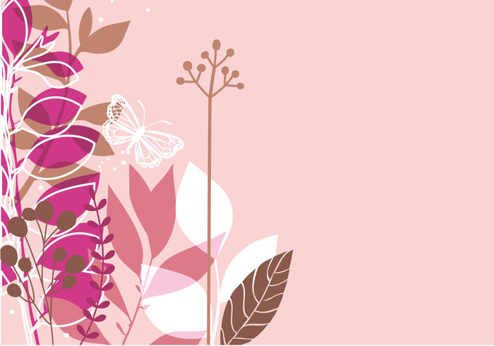 Pink Butterfly Photoshop Wallpaper