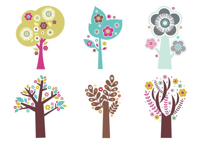 Blooming Trees Brush Pack