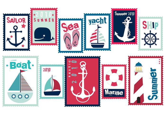 Sailor Summer Stamp Brush Pack