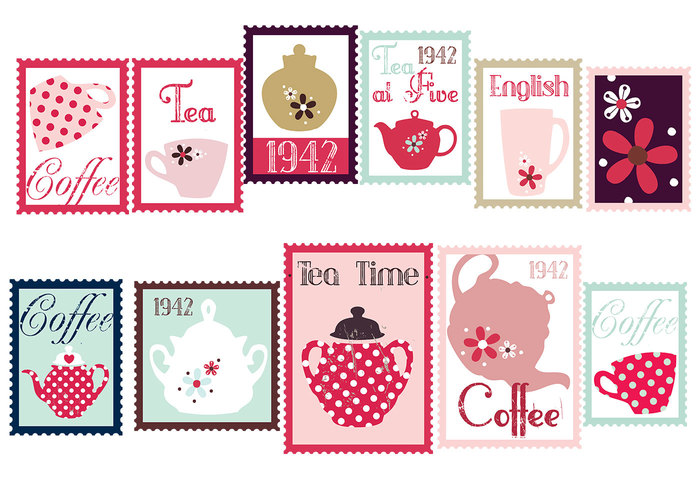 Coffee and Tea Stamp Brush Pack