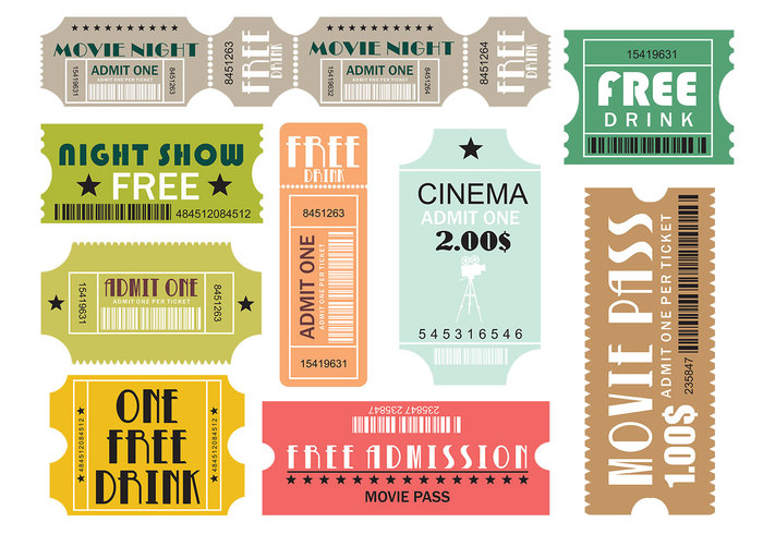 Movie and Events Tickets Brush Pack Two