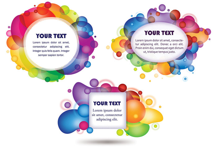 Colorful Bubble Tags Brush Pack