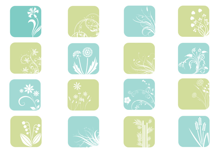 Floral Icon Brush Pack
