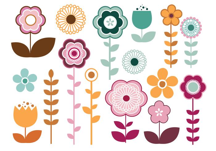 Stylish Blumen Pinsel Pack