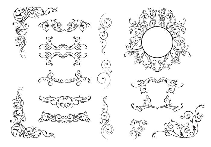 15 Flourish Ornaments Brush Pack