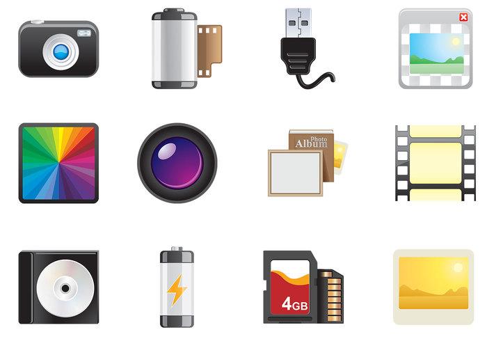 Photo Icons Brush Set