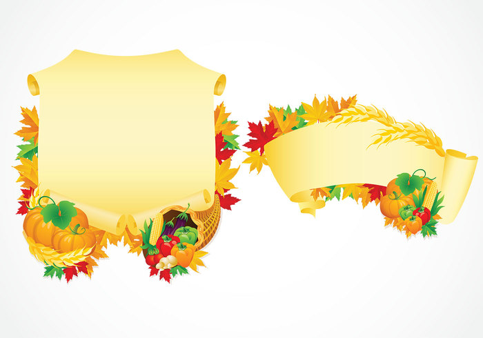 Thanksgiving Scrolls Background and Brush Pack