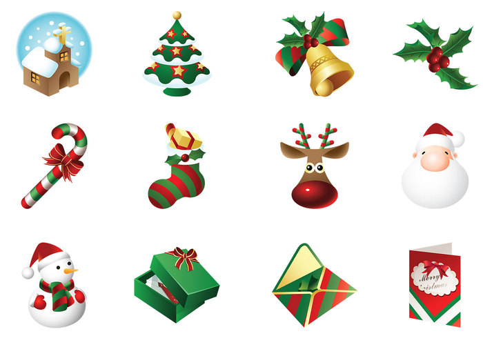 Christmas Time Icons Brush Pack