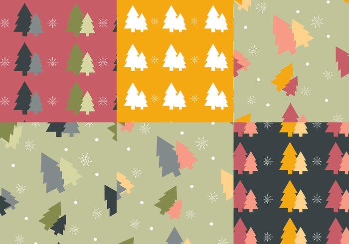 Kleurrijke kerstboom Photoshop Patronen
