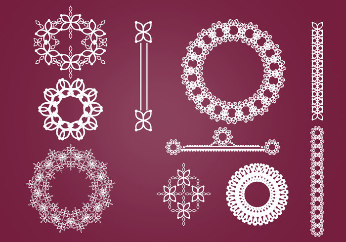 Wreaths, Borders, and Ornaments Brush Pack