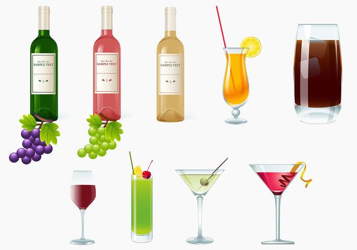 Drycker, Vin och Cocktails Borste Pack