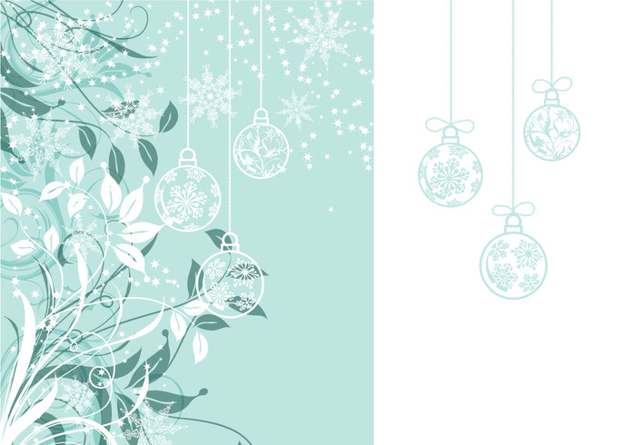 Floral Christmas Photoshop Wallpaper and Brush Pack