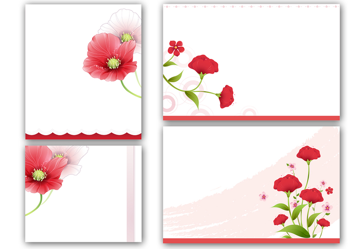 Poppies Cards and Photoshop Wallpaper Pack