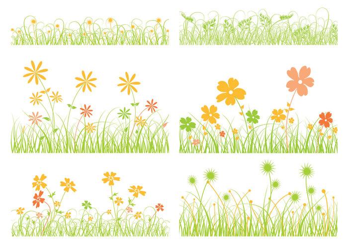 Gräsborste och Flower Brush Pack
