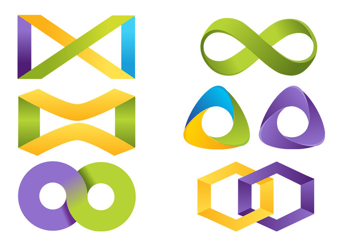 Infinity icon psd pack