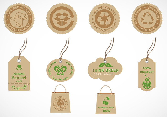 Recycle and Organic Label Brush Pack