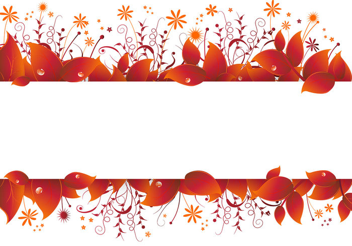 Autumn Leaves Banner PSD
