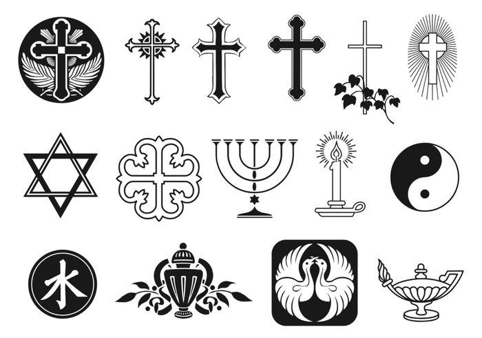 Pacote de escova de símbolo religioso