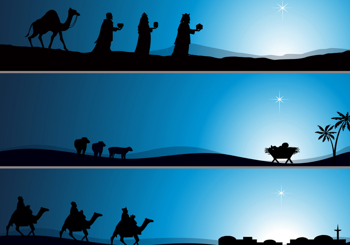 Nativity Wallpaper PSD Pack