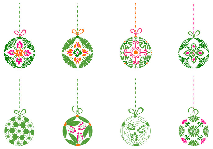 Decorative Christmas Ball Ornaments Simple Decorative Christmas Ball Ornament Brush Pack  Free Photoshop Design Decoration
