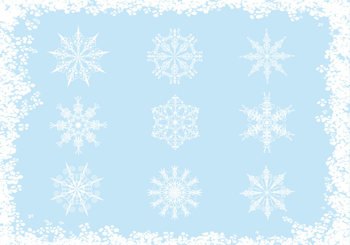 Ornate Snowflake Brushes Pack
