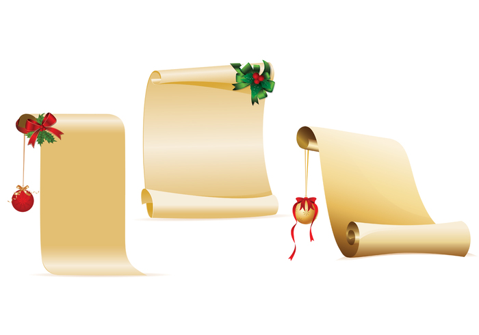 Decorated Christmas Scroll PSD Pack
