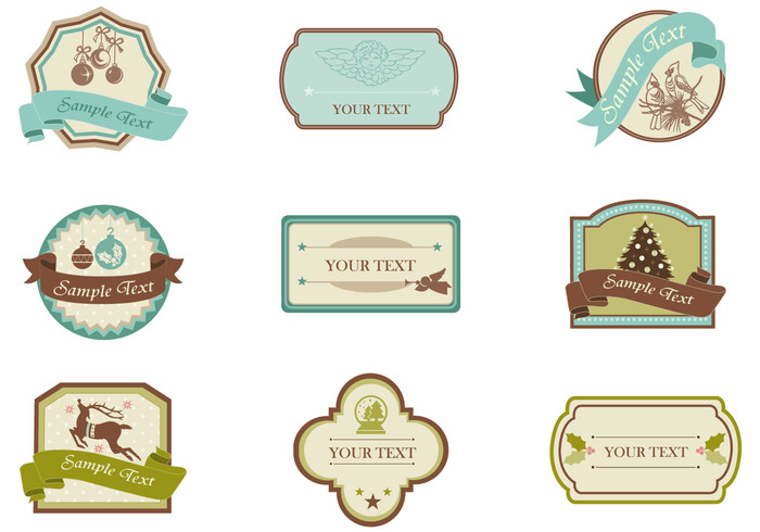 Vintage Christmas Tag and Label Brush Pack - Free Photoshop Brushes at ...