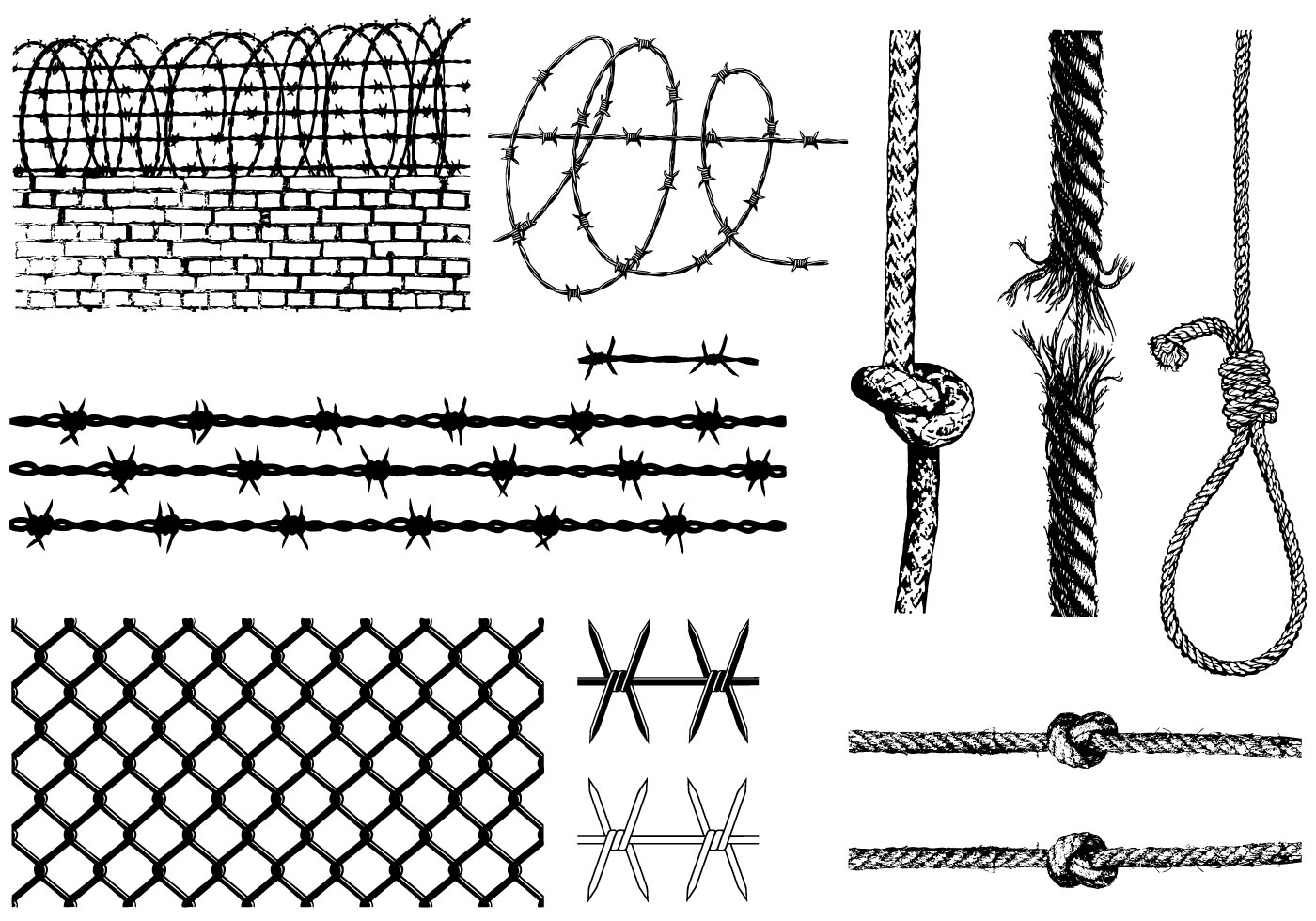 Barbed wire vector brush - Free Barbed Wire Illustrator Brush Free Vector Download